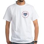 I Love Heart America White T-Shirt
