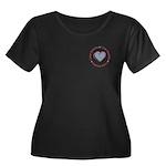I Love Heart America Women's Plus Size Scoop Neck