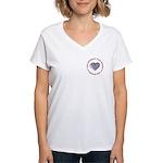 I Love Heart America Women's V-Neck T-Shirt