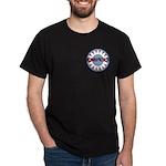 American Flower Red White Blue Dark T-Shirt
