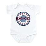 American Flower Red White Blue Infant Bodysuit