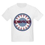 American Flower Red White Blue Kids Light T-Shirt