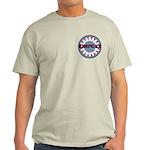 American Flower Red White Blue Light T-Shirt