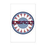 American Flower Red White Blue Mini Poster Print