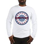 American Flower Red White Blue Long Sleeve T-Shirt