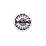American Flower Red White Blue Mini Button (100 pa