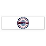 American Flower Red White Blue Sticker (Bumper 50