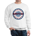 American Flower Red White Blue Sweatshirt