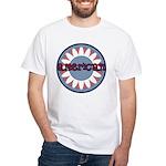 American Flower Red White Blue White T-Shirt