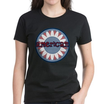 American Flower Red White Blue Women's Dark T-Shir