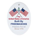 Masonic 4th of July Oval Ornament