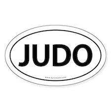 Judo Auto Sticker Traditional -White (Oval)