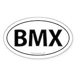 BMX Traditional Auto Sticker -White (Oval)