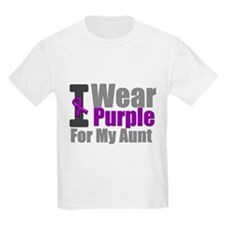 I Wear Purple (Aunt) T-Shirt