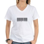 Basketball Player Barcode Women's V-Neck T-Shirt