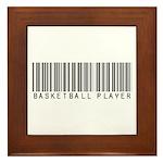 Basketball Player Barcode Framed Tile