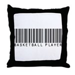 Basketball Player Barcode Throw Pillow
