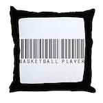 Basketball Player Barcode Throw Pillow