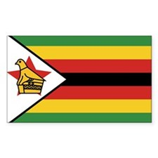 Flag of Zimbabwe Rectangle Sticker 10 pk)