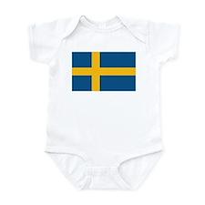 Flag of Sweden Infant Bodysuit