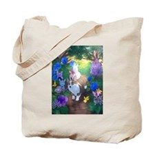 Cute Pembroke welsh corgi dog art Tote Bag