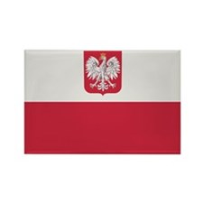 Flag of Poland Rectangle Magnet (10 pack)