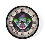 Evil Clown Sad Wall Clock