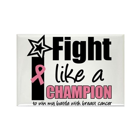 I Fight Like A Champion Rectangle Magnet (10 pack)