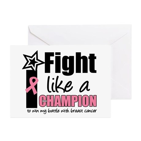 I Fight Like A Champion Greeting Cards (Pk of 10)