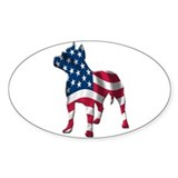 Patriotic Pit Bull Design Decal