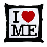 I LOVE ME By RIFFRAFFTEES.COM Throw Pillow
