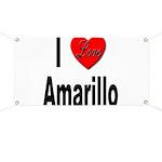 I Love Amarillo Banner