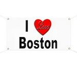 I Love Boston Banner