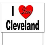 I Love Cleveland Yard Sign
