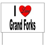 I Love Grand Forks Yard Sign