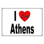I Love Athens Greece Banner