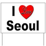 I Love Seoul South Korea Yard Sign