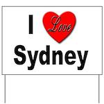 I Love Sydney Yard Sign