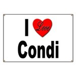 I Love Condi Banner