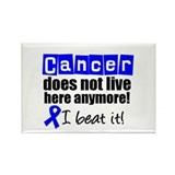I Beat Cancer (Blue) Rectangle Magnet