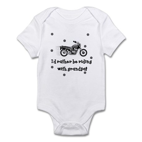Rather be riding with Grandpa Baby Infant Bodysuit