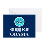 GEEKS FOR OBAMA Greeting Cards (Pk of 10)
