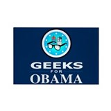 GEEKS FOR OBAMA Rectangle Magnet
