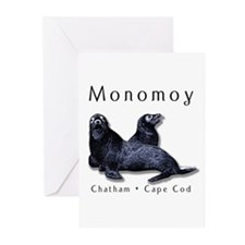 """Monomoy"" w/seals Greeting Cards (Pck of 6)"