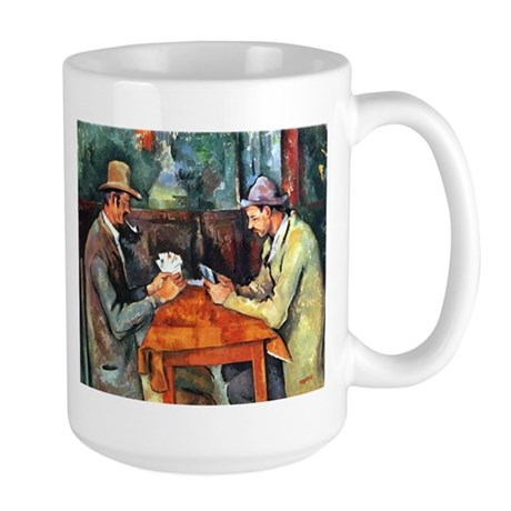 The Card Players Large Mug