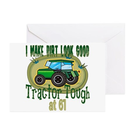 Tractor Tough 61st Greeting Cards (Pk of 10)