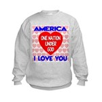 One Nation Under God Kids Sweatshirt