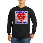 One Nation Under God Long Sleeve Dark T-Shirt