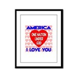 One Nation Under God Framed Panel Print