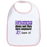 I Beat Cancer (Hodgkins) Bib